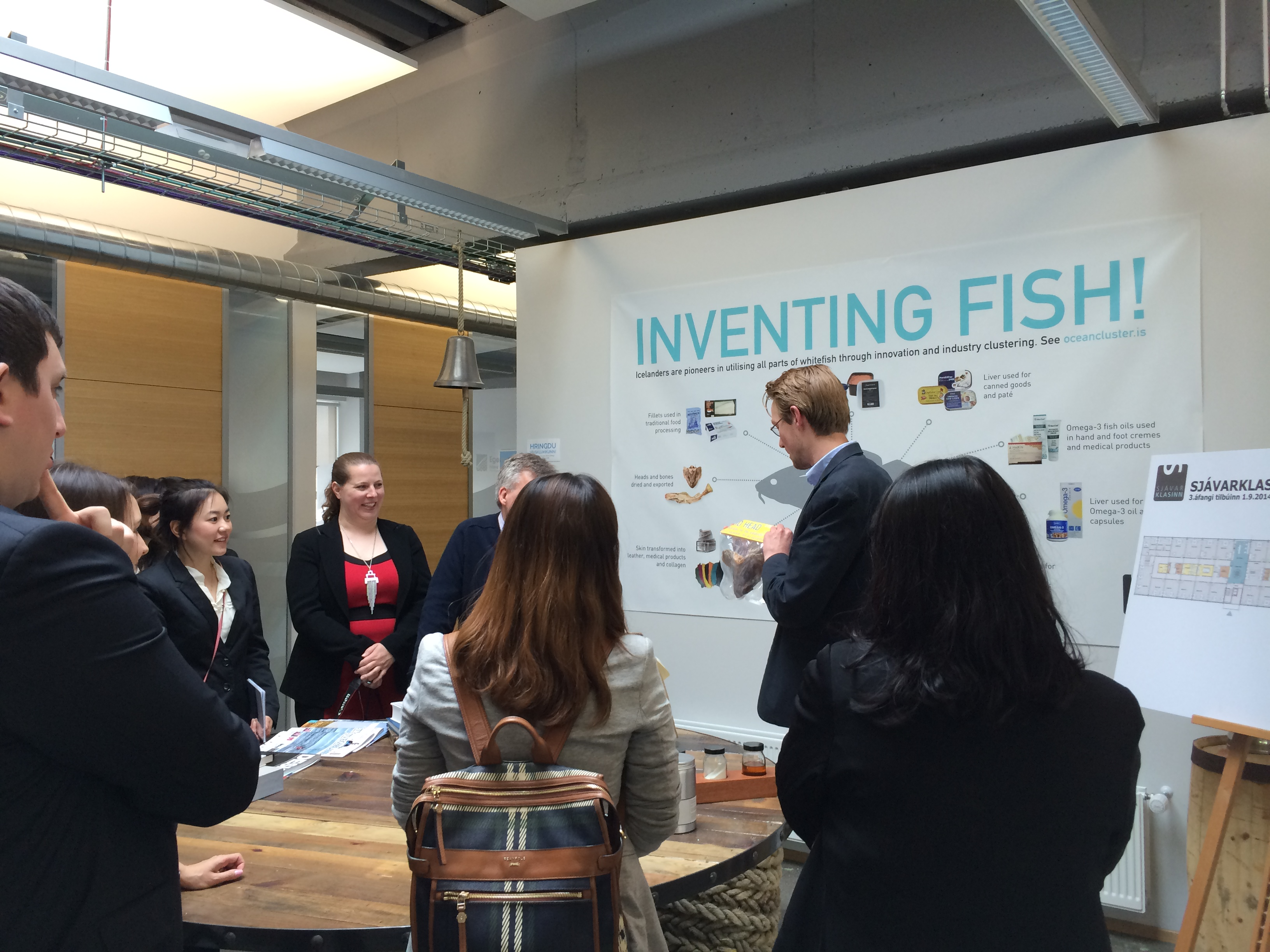 MBA students from Edinburgh University visit the Ocean Cluster House