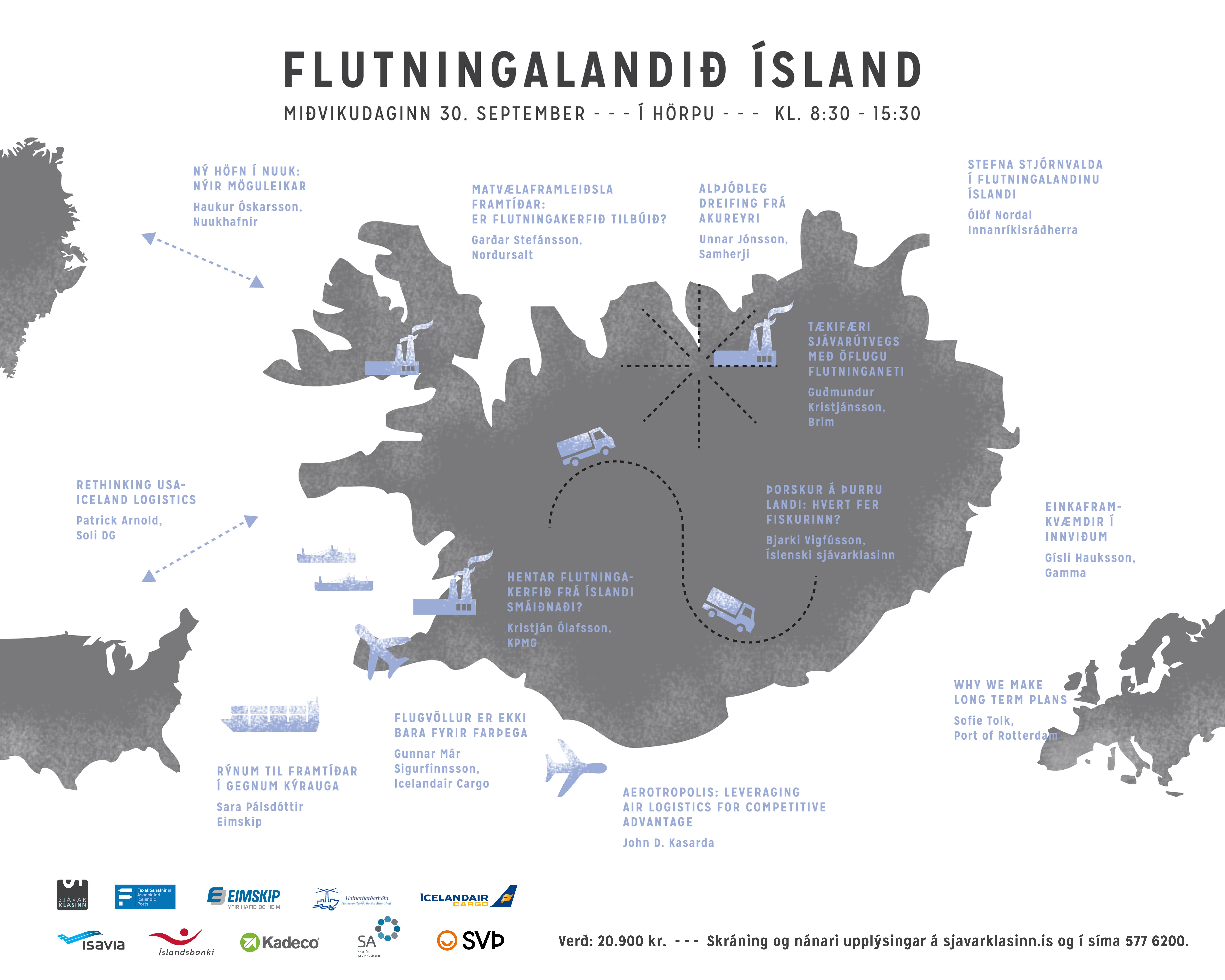 Flutningalandið Ísland