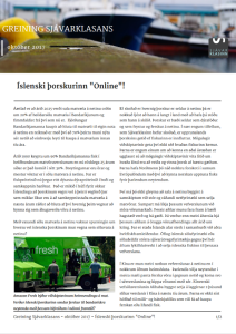 Íslenski þorskurinn online. p1