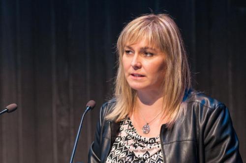 Stella Björg Kristinsdóttir, markaðsstjóri Marel ráðstefnustjóri Flutingalandsins.